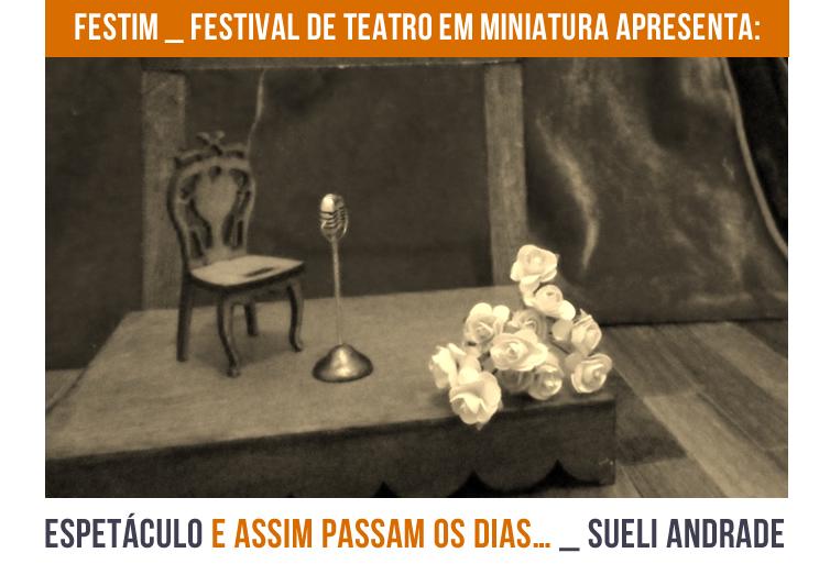 FESTIM _ Espetáculo E ASSIM PASSAM OS DIAS… _ Sueli Andrade_