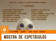 FESTIM 2017 // 16 SETEMBRO // MOSTRA DE ESPETÁCULOS // CCBB BH