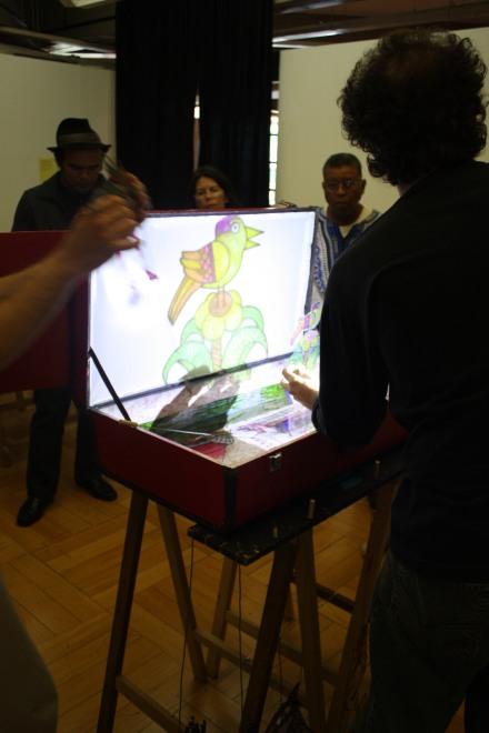 FESTIM - Festival de Teatro em Miniatura _ Oficina Teatro de Sombras _ Paço das Artes 2013 _ Foto Núcleo Educativo Paço das Artes
