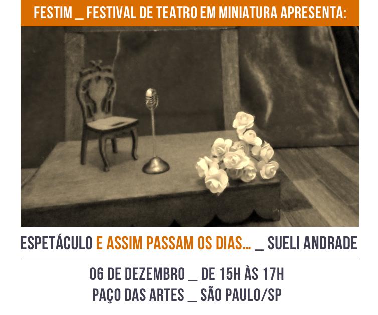 FESTIM _ Espetáculo E ASSIM PASSAM OS DIAS… _ Sueli Andrade