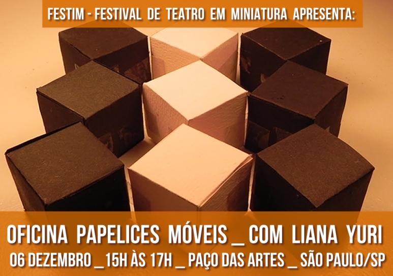 FESTIM _ Festival de Teateo em Miniatura _ Oficina Papelices Moveis _ Liana Yuri